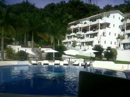 Pacifica Resort Ixtapa: Vista del Hotel desde el Restaurante Shiva