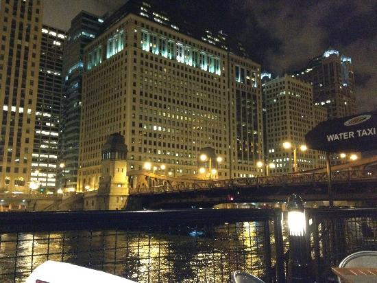 Fulton's on the River: View of downtown Chicago from the patio