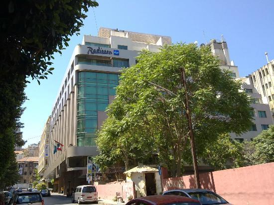 Radisson Blu Martinez Hotel, Beirut: Fachada do Hotel