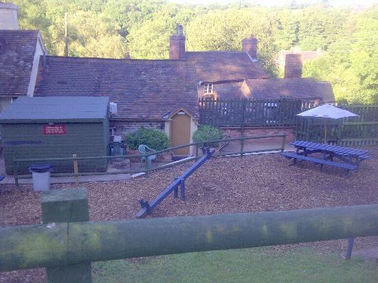 Shakespeare Inn: View of rooms from top of beer garden
