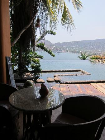 Casa Cuitlateca: Sitting at the bar and looking at the infinity pool