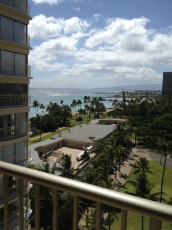 View from our partial ocean view room