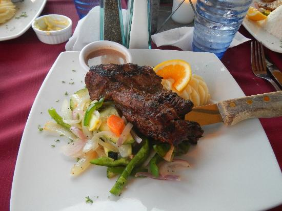 Matthew's Beachside Restaurant : This is the Argentinian Steak