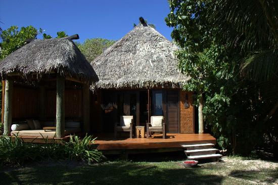 Likuliku Lagoon Resort: View of Bure 36 from beachfront
