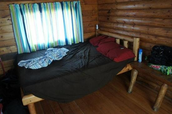 Cape Hatteras KOA: bed in cabin a little firm but comfortable for me