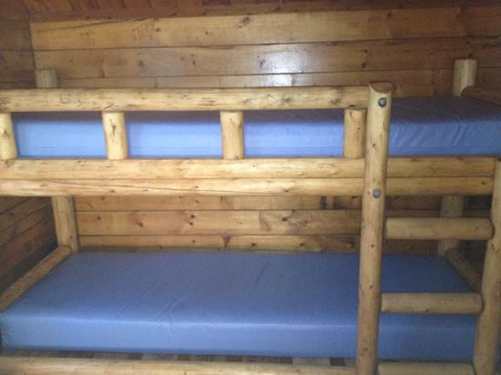 Cape Hatteras KOA: bunk bed in kabin