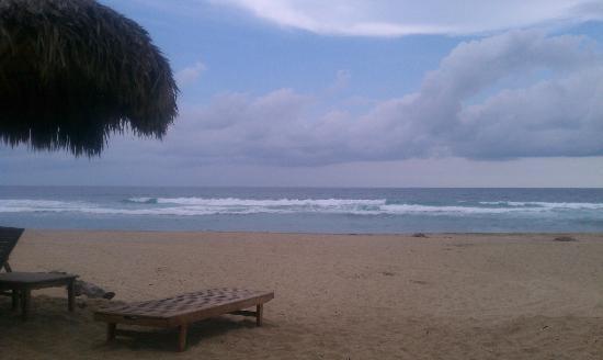 Playa Viva: beach from adirondack chair