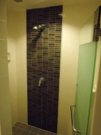 Standing shower that can fit a couple easily!