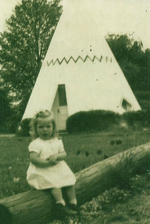 Wigwam Village Inn #2: Me in front of tee-pee, we loved stopping here!!
