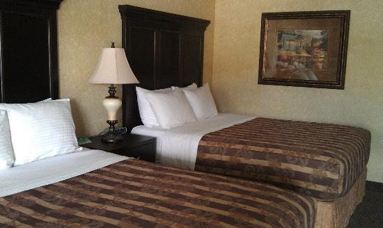 Abbey Inn & Suites: Very Nicely furnished room (wish A/C worked!)