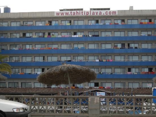 Tahití Playa Hotel: vue depuis la mer