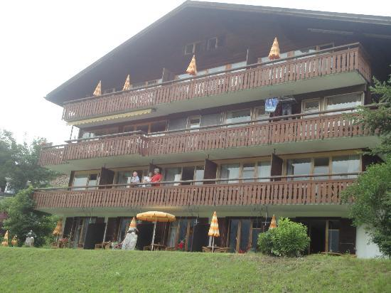Eiger facing side of Hotel Cabana
