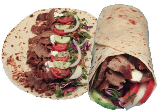 The Harbour Fish Bar: doner kebab in a pitta wrap