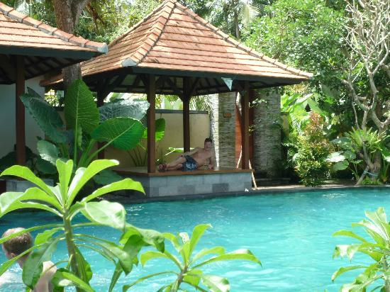 Bayad Ubud Bali Villa: Et view over poolen