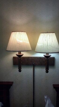Travelodge Lake Park Valdosta: Torn lamp shades