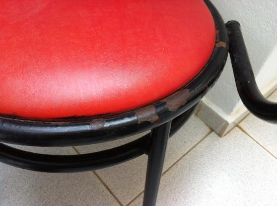 Eleana Hotel: ruggine alle sedie