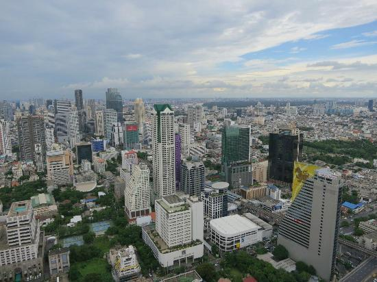 Tower Club at Lebua : View from our room on the 56th floor