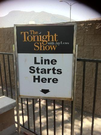 The Tonight Show with Jay Leno : Waiting area line up area