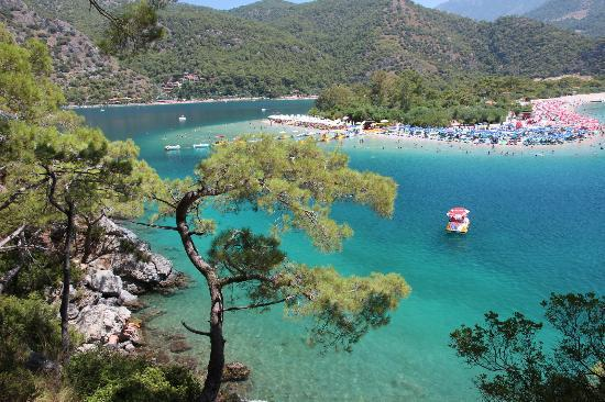 Seaside entrance to the lagoon - Picture of Blue Lagoon (Oludeniz Beach), Olu...