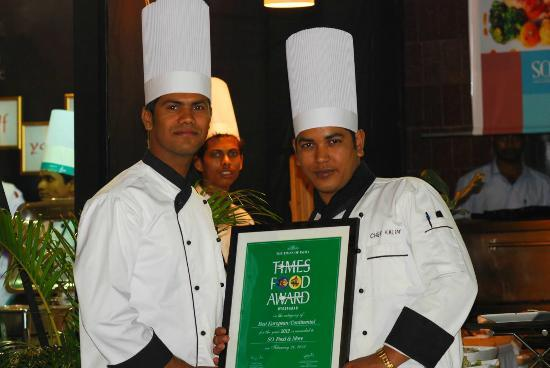 So. The Sky Kitchen : SO awarded as the best European/Continental Restaurant in Hyderabad by Times