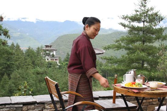 COMO Uma Paro, Bhutan: el desayuno en Uma Paro