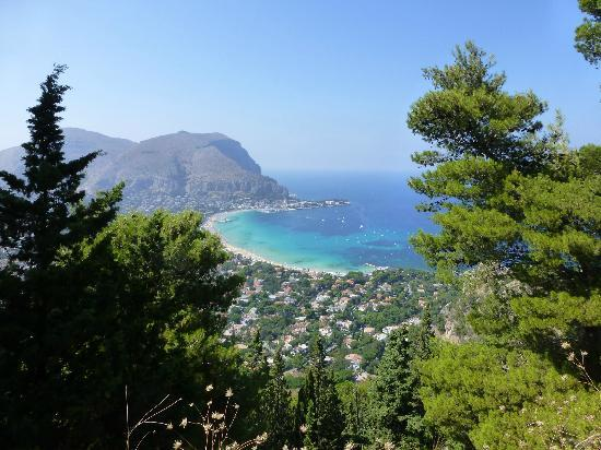View of Mondello, from the road going to Monte Pellegrino