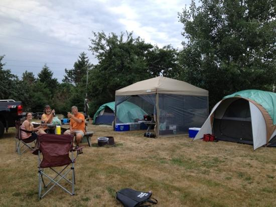 Dunromin Waterfront Campsite & Cabins: This is our tenting site. More pics from our cabin view next weekend!