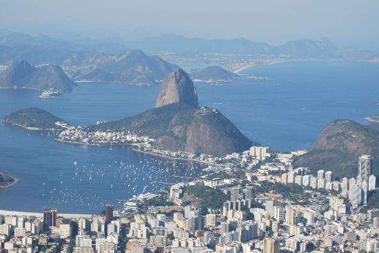 Mercure Rio de Janeiro Botafogo Hotel: vista do bairro de Botafogo, a partir do Cristo