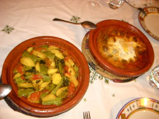 Riad et Dar Maison Do: Vegetable and Lamb Tagines