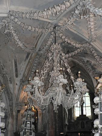 Bone chandelier picture of ossuary the cemetery church kutna ossuary the cemetery church bone chandelier aloadofball Image collections