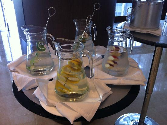 Holiday Inn Cartagena Morros: Water flavored by varios fruits 24/7
