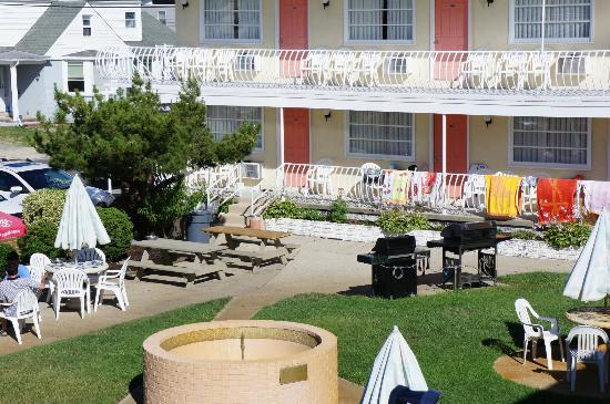Blue Water Motel: Côté jardin