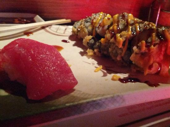 Sakura Japanese Steak House & Sushi Bar : tuna sushi and fat girl