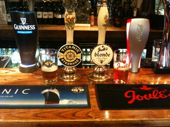 The Mill at Worston: local beers at the mill