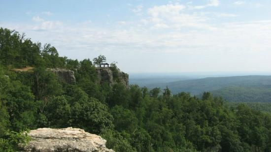 White Rock Mountain: A view from on of the bluffs along the mountain top trail