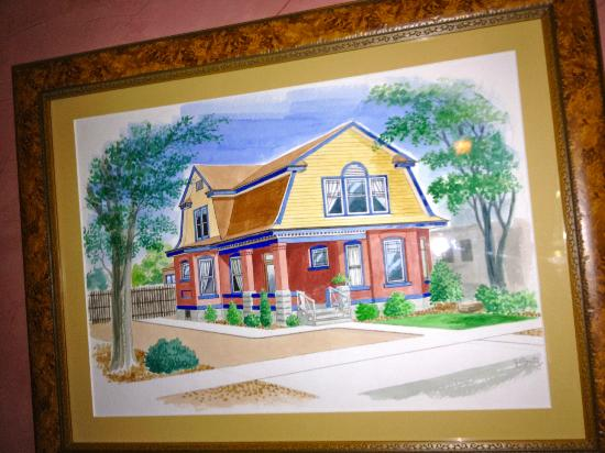 Downtown Historic Bed & Breakfasts of Albuquerque: Painting of Heritage House