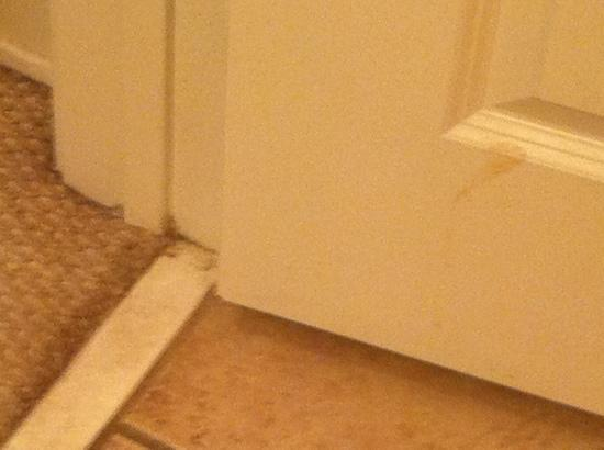 Sunrise Beach Resort: baseboards filthy doors dirty, walls never been wiped down!