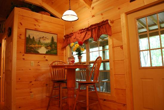 Cabins of Asheville: Lovey Dovey dining table