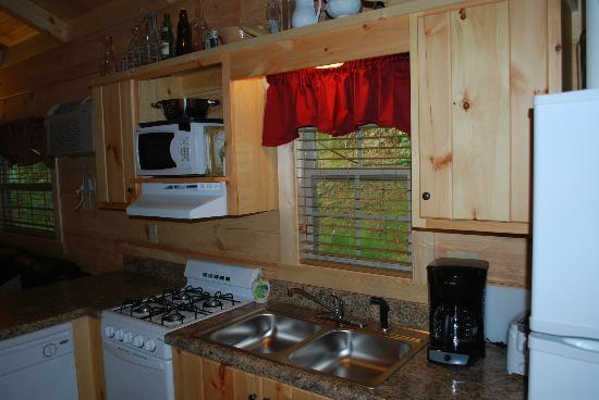 Cabins of Asheville: Lovey Dovey Kitchen
