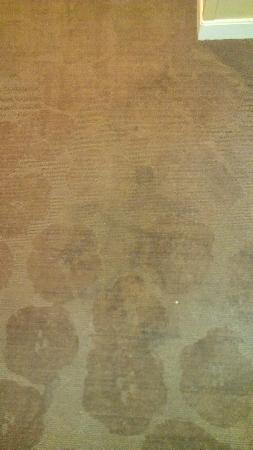 Fairfield Inn & Suites Atlanta Downtown: Hallway carpet (worn & filthy)