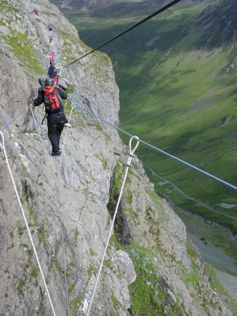 Wire rope bridge. - Picture of Honister Slate Mine, Keswick ...