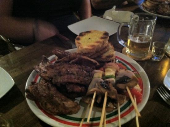 Papadakis Villas: one of many plates BBQ night