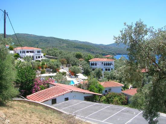 Leda Village Resort : View from the middle of the hill, between the apartements