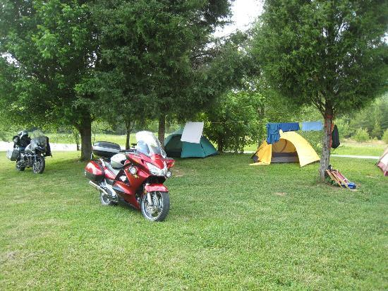 Hunt's Lodge: Free-range tent camping allows you to pick out your spot.