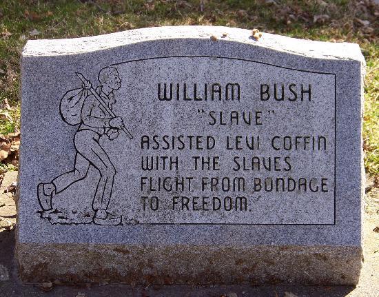 Levi Coffin House: William Bush gravesite