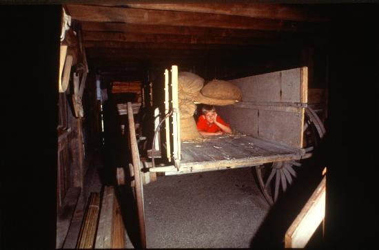 Levi Coffin House: False Bottom Wagon
