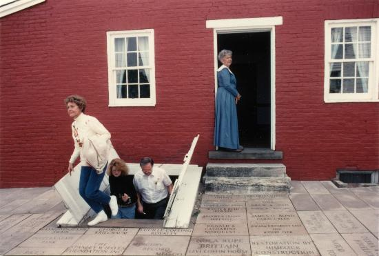 Levi Coffin House: Exiting the basement