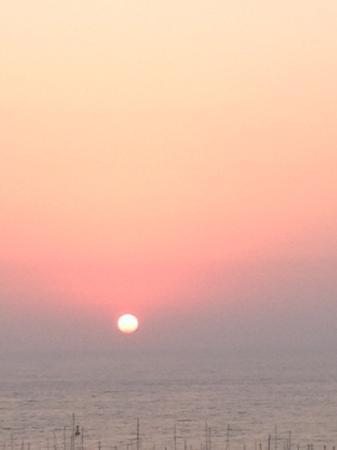 Hotel Alp : pool side sunset
