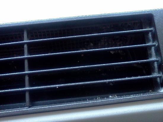 Fairfield Inn Princeton: Something in vent. Paint or plaster?