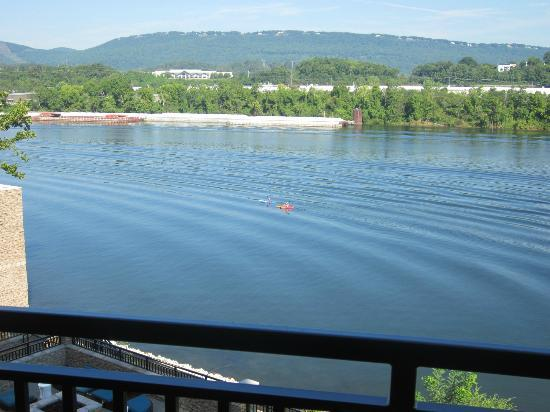 SpringHill Suites Chattanooga Downtown/Cameron Harbor: Morning view (from our balcony) of the river.